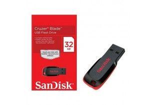 فلاش ميمورى - Flash Memory 32 GB SanDisk (Cruzer Blade)