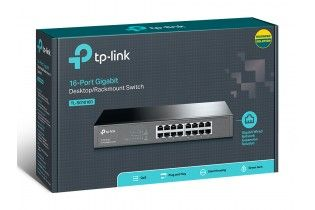 Networking - Switch 16 ports TP-Link (SG1016D) Metal