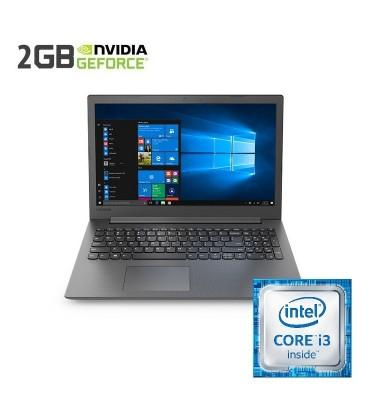 """Lenovo Ideapad 130 Intel Core i3-7020U-4GB RAM DDR4-1TB HDD-VGA NVIDIA®Geforce® MX110 2GB DDR5-15.6""""-DOS-Black"""