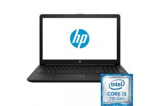 "كمبيوتر محمول - HP 15-da0088ne-15.6""HD-Intel Core i3-7100-4GB RAM-1TB HDD-VGA Intel HD Graphics 620–FREE DOS-Black"