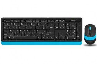 Keyboard & Mouse - KB+Mouse A4Tech Wireless FG1010 Blue
