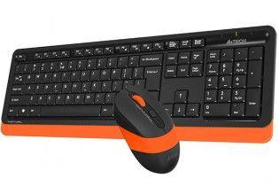 لوحات مفاتيح مع الماوس - KB+Mouse A4Tech Wireless FG1010 Orange