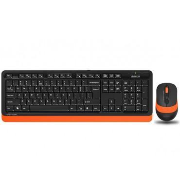 KB+Mouse A4Tech Wireless FG1010 Orange
