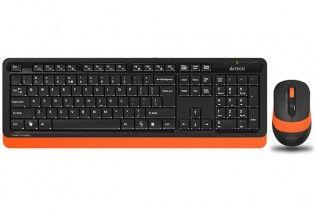 Keyboard & Mouse - KB+Mouse A4Tech Wireless FG1010 Orange