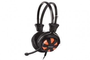 Headphones - Headset A4tech HS-28 Black + Orange