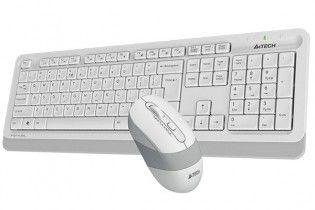 Keyboard & Mouse - KB+Mouse A4Tech Wireless FG1010 white