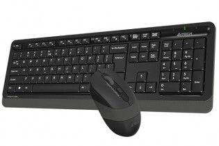 لوحات مفاتيح مع الماوس - KB+Mouse A4Tech Wireless FG1010 Grey