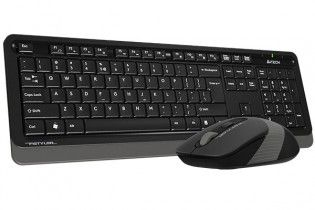 Keyboard & Mouse - KB+Mouse A4Tech Wireless FG1010 Grey