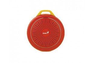 سماعات خارجية - SPEAKER Genius SP-906BT-5 HOURS PLAY TIME-500MAH BATTERY WITH CARABINER-GLOWING RED