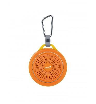SPEAKER Genius SP-906BT-5 HOURS PLAY TIME-500MAH BATTERY WITH CARABINER - BOLD ORANGE