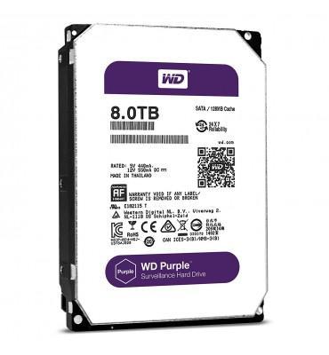 WD Purple 8TB Surveillance Hard Disk Drive - 5400 RPM Class SATA 6 Gb/s 128MB Cache 3.5 Inch