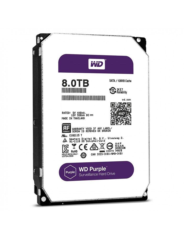 WD Purple 8TB Surveillance Hard Disk Drive-5400 RPM Class SATA 6 Gb/s 128MB Cache 3.5 Inch