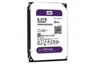 Hard Drive - WD Purple 8TB Surveillance Hard Disk Drive-5400 RPM Class SATA 6 Gb/s 128MB Cache 3.5 Inch