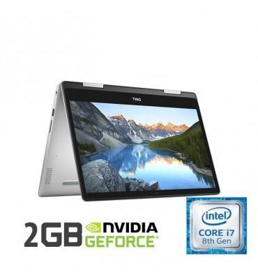 """Dell Inspiron 5482 Intel Core i7-8565U-16GB RAM-512GB SSD-14"""" FHD Touch-VGA NVidia MX130 2GB-Win10-Silver"""