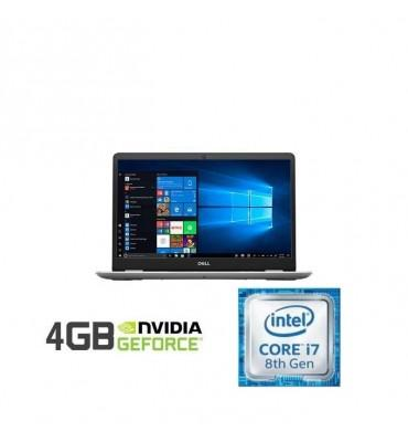 "Dell Inspiron 5584 Intel Core i7-8565U-16GB RAM DDR4-1TB HDD + 256GB SSD-VGA NVidia MX130 4GB-15.6"" FHD-Silver"