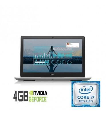 """Dell Inspiron N 5583 Intel Core i7-8565U-16GB RAM DDR4-2TB HDD-DVD-VGA NVidia MX130 4GB-15.6"""" FHD-DOS-Silver"""