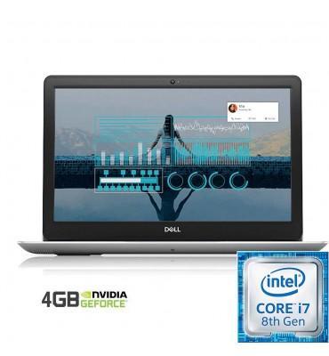 """Dell Inspiron N 5583 Intel Core i7-8565U-8GB RAM DDR4 -1TB HDD -DVD-VGA NVidia MX130 4GB-15.6"""" HD-DOS-Silver"""