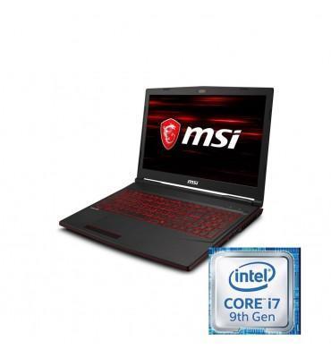 """msi GL63 8SC Intel Core i7-9750H-16GB DDR4-SSD 256GB+1TB-Nvidia GTX1650-4GB GDDR5-15.6"""" FHD"""