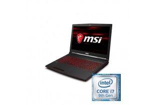 "كمبيوتر محمول - msi GL63 8SC IntelCore i7-9750H-16GB DDR4-SSD 256GB+1TB-Nvidia GTX1650-4GB GDDR5-15.6"" FHD"