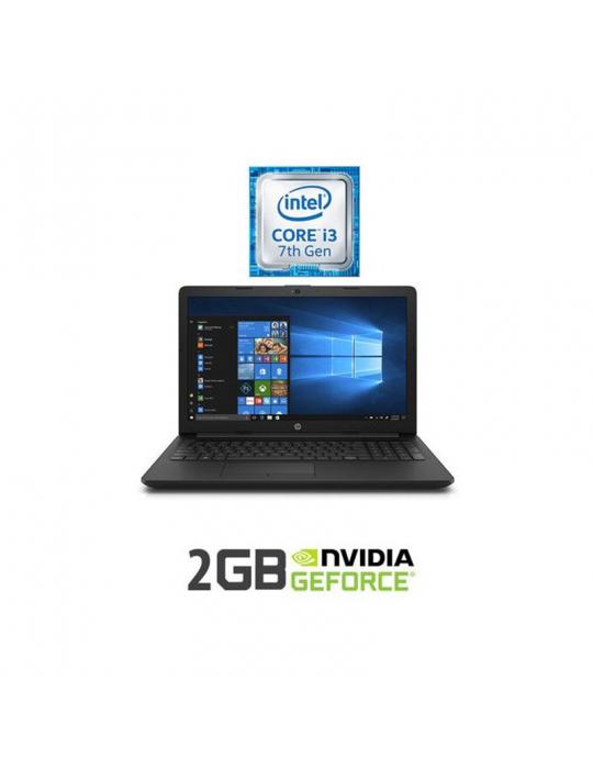 كمبيوتر محمول - HP 15-da122ne i3-7020-4GB-1TB-NVMX110-2G-15.6 HD-DOS-Black