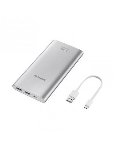Samsung Dual USB Power bank-10000 MAh-Silver