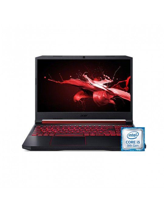 "كمبيوتر محمول - Acer Nitro 5 AN515-54-54QG-core i5-9300H-8GB DDR4-1TB HDD-265GB SSD-NVIDIA® GeForce GTX1050 3GB-15.6"" FHD-win 1"