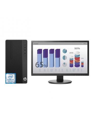 Desktop HP 290 G2M i5-8500-4GB-1TB-Intel Graphics-Monitor 19
