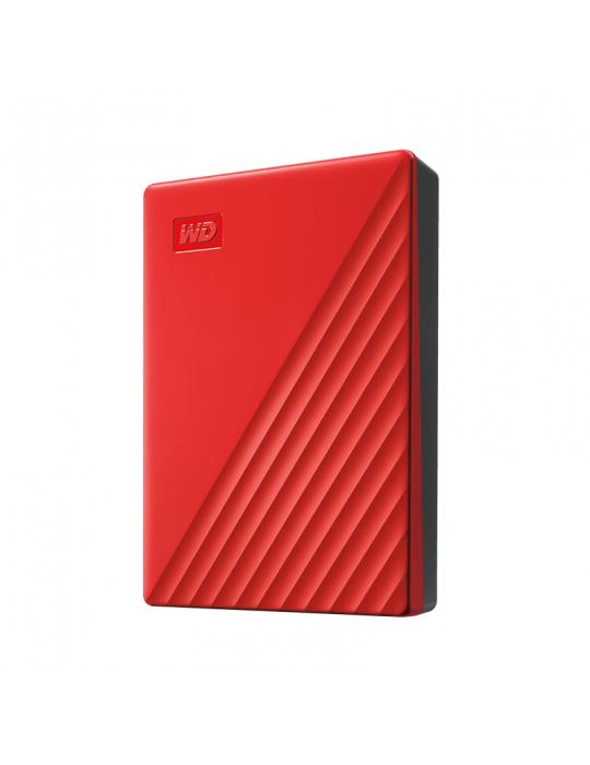 Hard Drive - HDD External WD 4T.B Passport-Red