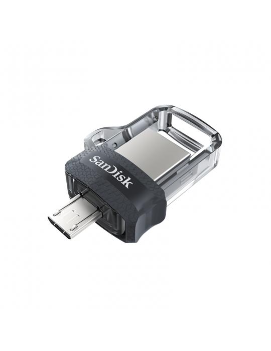 فلاش ميمورى - Flash Memory 32GB SanDisk-Ultra Dual Drive m3.0-OTG-Grey