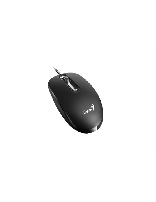Mouse - Mouse Genius DX-130 Smooth Touch 3 Button USB-1000 DPI-Black-G5-With Smart Genius APP