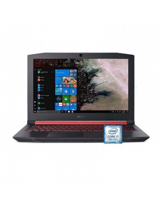 """كمبيوتر محمول - Acer Nitro 5 AN515-54-77TB-Core™ i7-9750H-16GB DDR4-1TB HDD-265GB SSD-NVIDIA® GeForce® GTX 1650 4GB-15.6"""" FHD-w"""