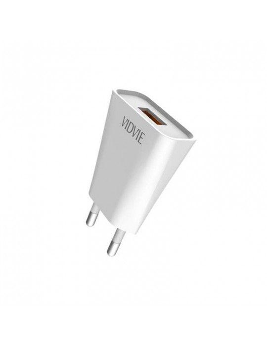 إكسسوارات الموبايل - Vidvie Wall Charger with Micro Cable PLE209