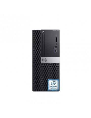 Dell Optiplex 7060 Intel Core i7-8700-4GB RAM DDR4-1TB HDD-VGA Intel HD-DVD R/W-DOS-Black-Dell KB & Mouse