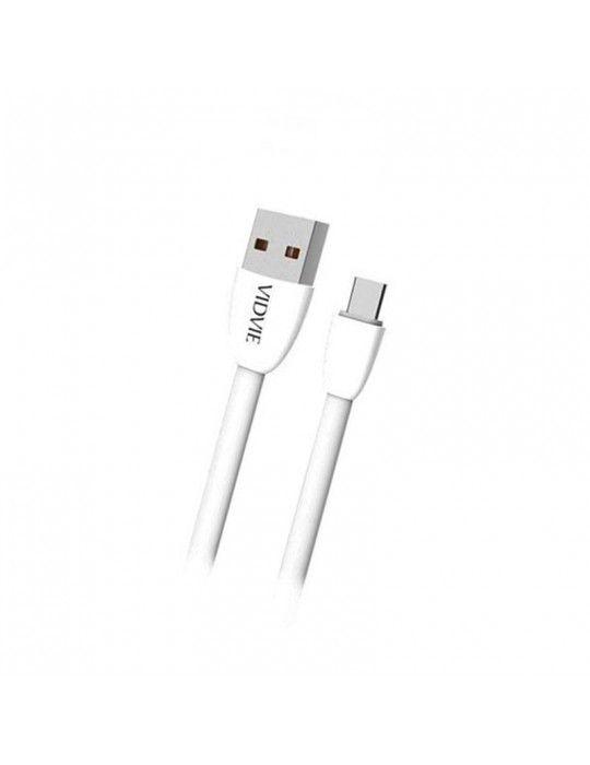 إكسسوارات الموبايل - Vidvie Data & Charging Cable Type-c CB412t