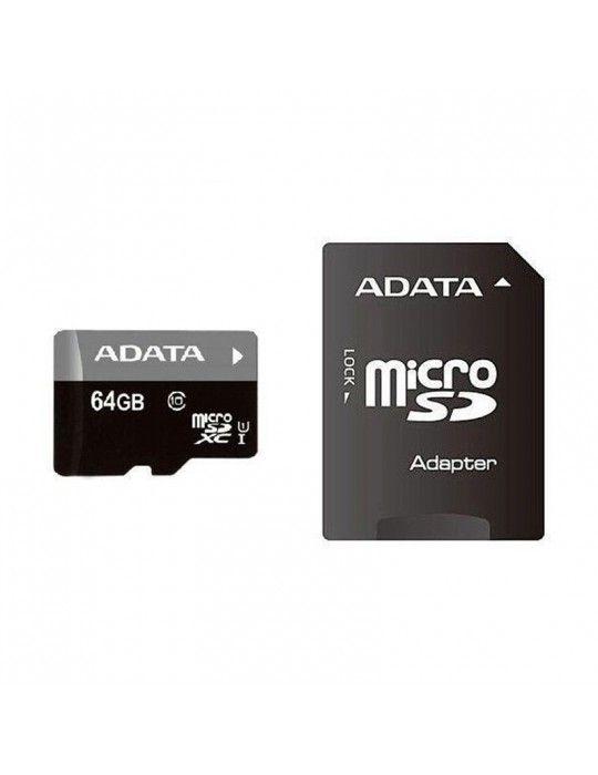 Desktop - Micro SDHC ADATA 64GB + Adapter (Class 10)