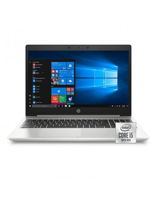 كمبيوتر محمول - HP ProBook 450-G7 i5-10210U-8GB-1TB-MX130-2GB-FPR-15.6 HD-Dos-Silver-Carry Case