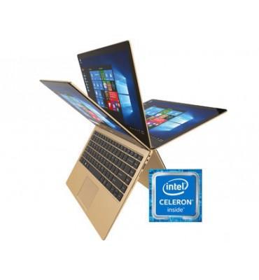 "Cherry ZE55L-13.3"" YUGA-Touch-Intel Celeron N3350-RAM 4GB DDR3-64GB SSD-VGA Intel HD 4000 up to 2.3GB-Windows 10-Gold"