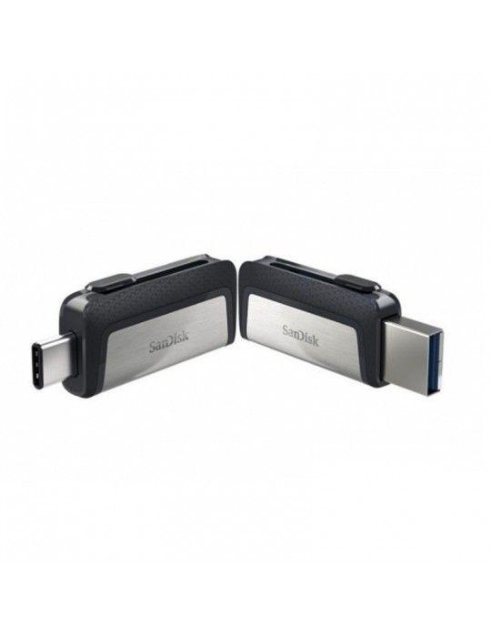 فلاش ميمورى - Flash Memory 64GB SanDisk Dual Drive Type-C OTG