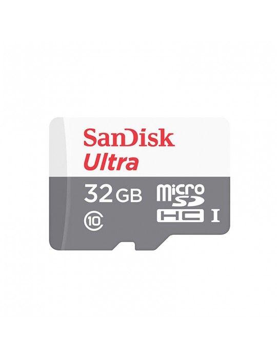 كروت ذاكرة - Micro SDHC SanDisk 32GB Ultra Android