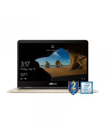 ASUS ZenBook Flip 14 -i7-8565U-LPDDR3 16G-512G PCIE G3X2 SSD-MX150 V2G-1C-GOLD-14.0 FHD GLARE TOUCH-Win10