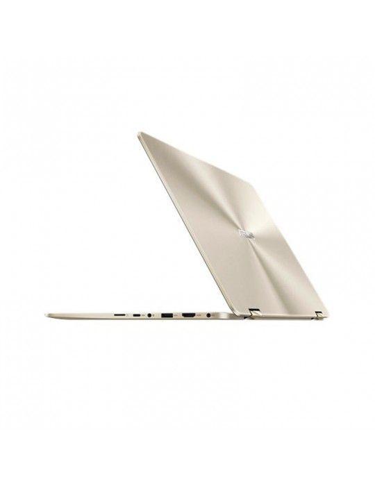 كمبيوتر محمول - ASUS ZenBook Flip 14 -i7-8565U-LPDDR3 16G-512G PCIE G3X2 SSD-MX150 V2G-1C-GOLD-14.0 FHD GLARE TOUCH-Win10