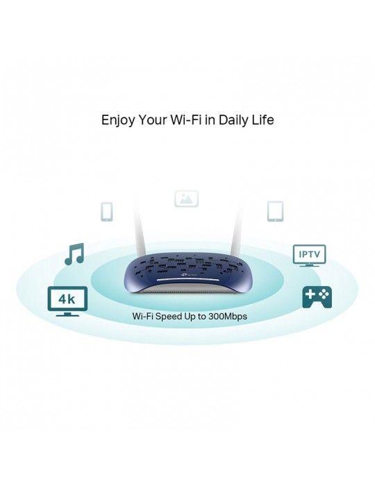شبكات - VDSL/ADSL Modem Router TP-Link 300Mbps-Wi-Fi