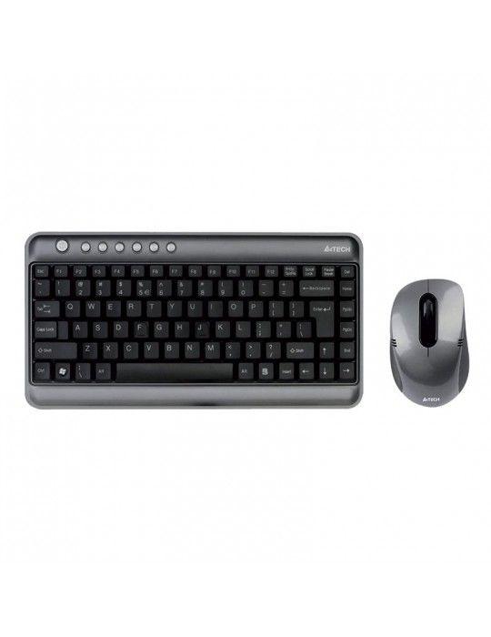 لوحات مفاتيح مع الماوس - KB+Mouse A4Tech Wireless 7300N