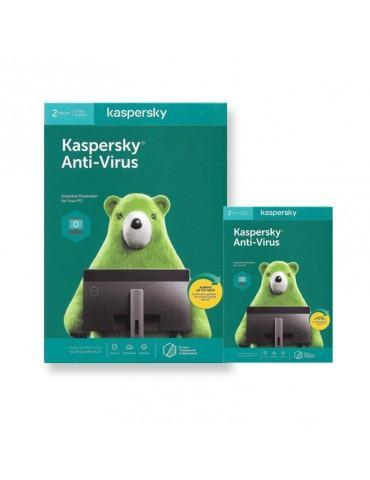 Kaspersky Anti Virus 2User 2020 (Windows Only)- Media & License / 1Y
