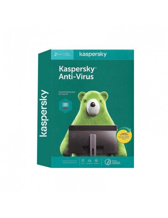 Software - Kaspersky Anti Virus 2User 2020 (Windows Only)- Media & License / 1Y