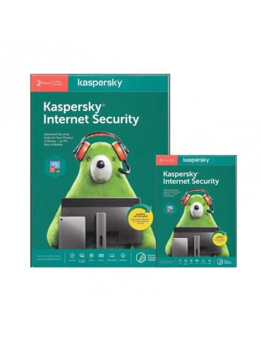 Kaspersky Internet Security Multi Device 2 User 2020 (Windows, Mac, Android )- Media & License / 1Y