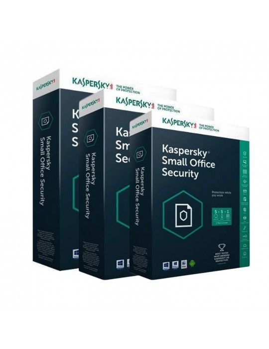 Software - Kaspersky Small Office Security V5 - (One Server +10 Clients + 10 Mobiles Free)- Media & License / 1Y