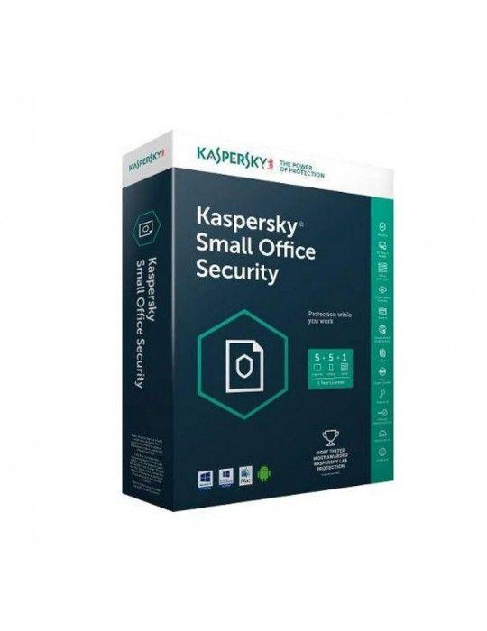 برمجيات - Kaspersky Small Office Security V5 - (One Server +10 Clients + 10 Mobiles Free)- Media & License / 1Y