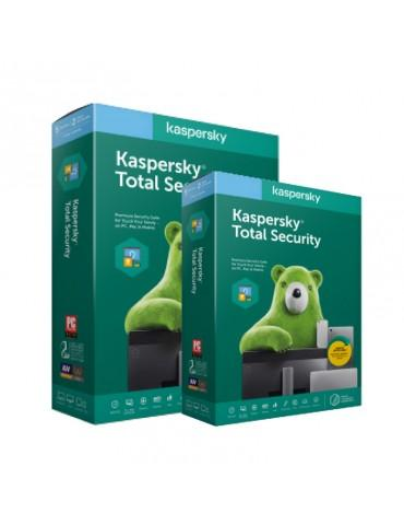 Kaspersky Total Security Multi Device (3 Users + 1 License Free) - Windows, Mac, Android )- Media & License / 1Y