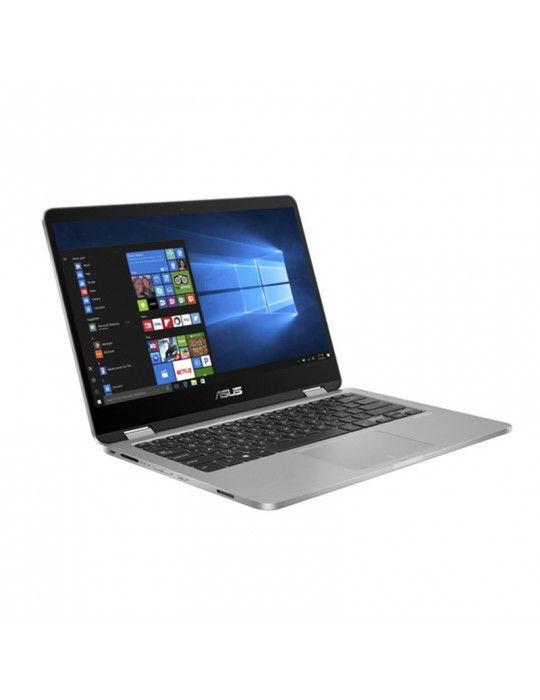 Laptop - ASUS VivoBook Flip 14-I7-10510U-TP412FA-EC400T-16GB-SSD 512GB-Intel Shared-14 FHD-Win10-SILVER BLUE-Stylus pen free b
